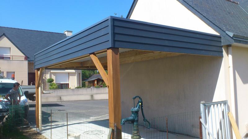 Charpente bois carport obtenez des id es de design int ressantes en utilisant du - Garage charpentier nantes ...
